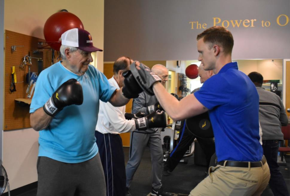 Walker, J and Earlich-Beard, E.  Power Punch: Sheltering Arms Rehabilitation Hospital Uses Boxing to Help Parkison Disease Patients.  Review: Virginia's Magazine for Hospitals and Health Systems.  Virginia Hospital and Healthcare Association.